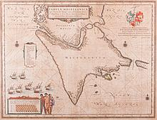Blaeu 17th Century Hand Colored Map
