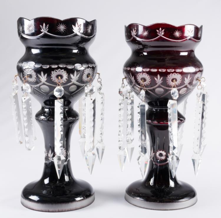bohemian glass lustre lamps. Black Bedroom Furniture Sets. Home Design Ideas