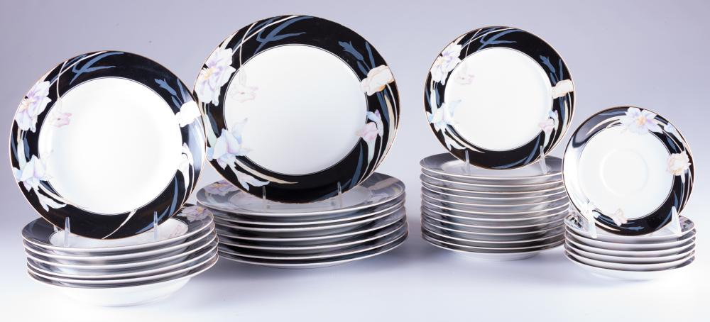 """Mikasa """"Charisma Black"""" Plates & Bowls Group"""