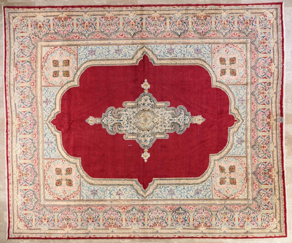 """Persian Kerman 10'3"""" x 12'1"""" Rug"""