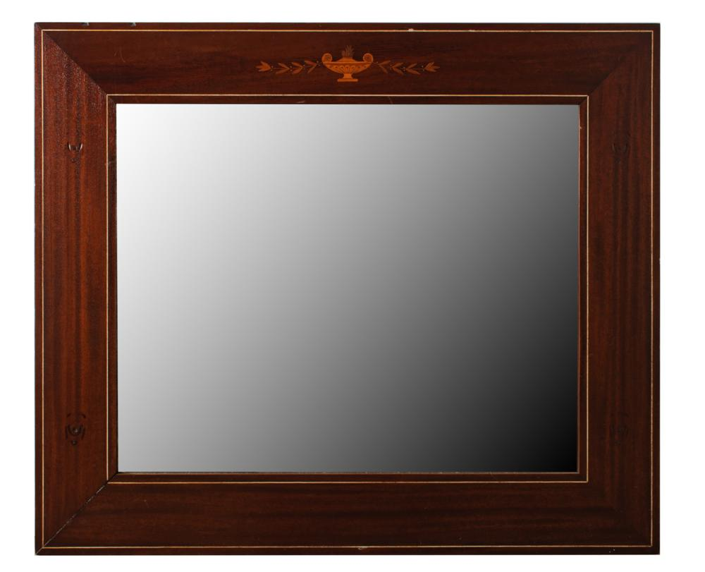 R.J. Horner Inlaid Wood Frame Wall Mirror 19th C