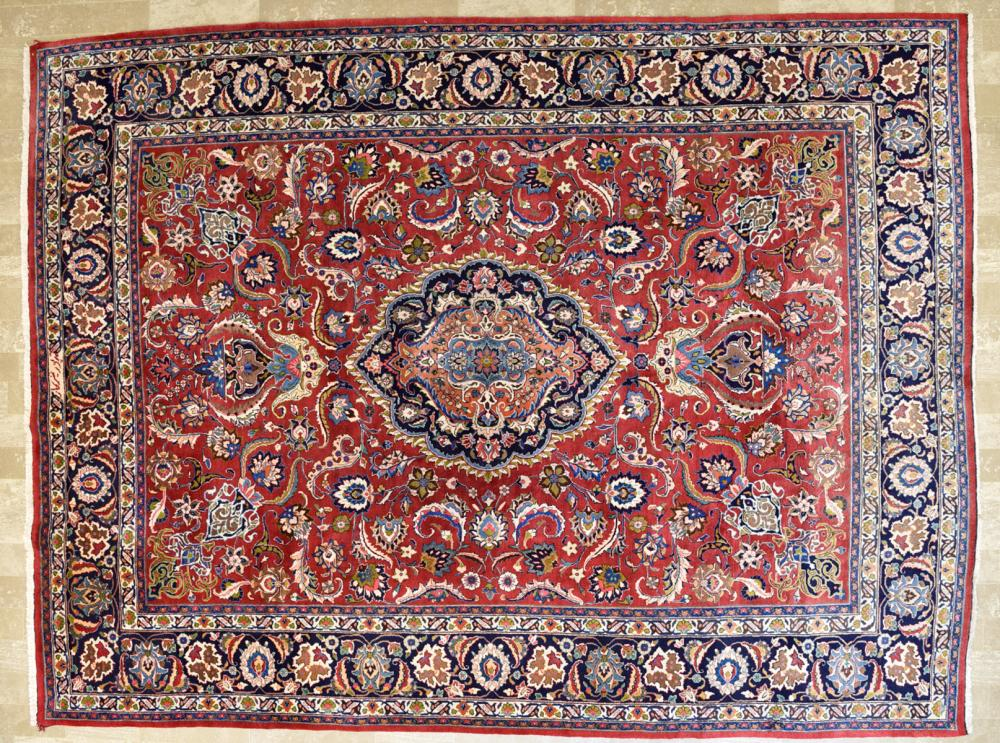"Persian Mashad Signed 9'11"" x 13'3 Rug"