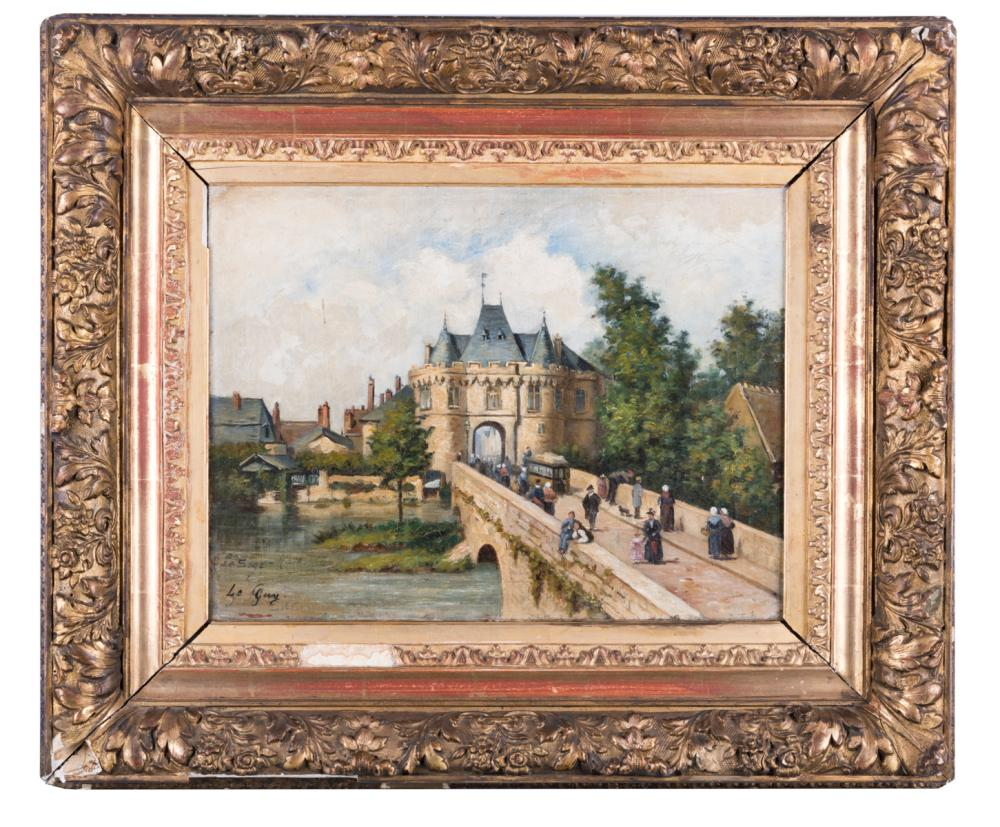French Oil on Canvas Painting