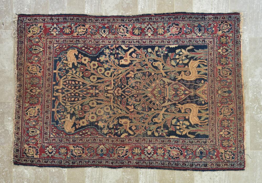 "Persian Hamadan 3'11"" x 5'9"" Rug"