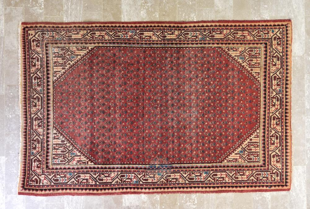"Persian Hamadan 4'3"" x 6'8"" Rug"