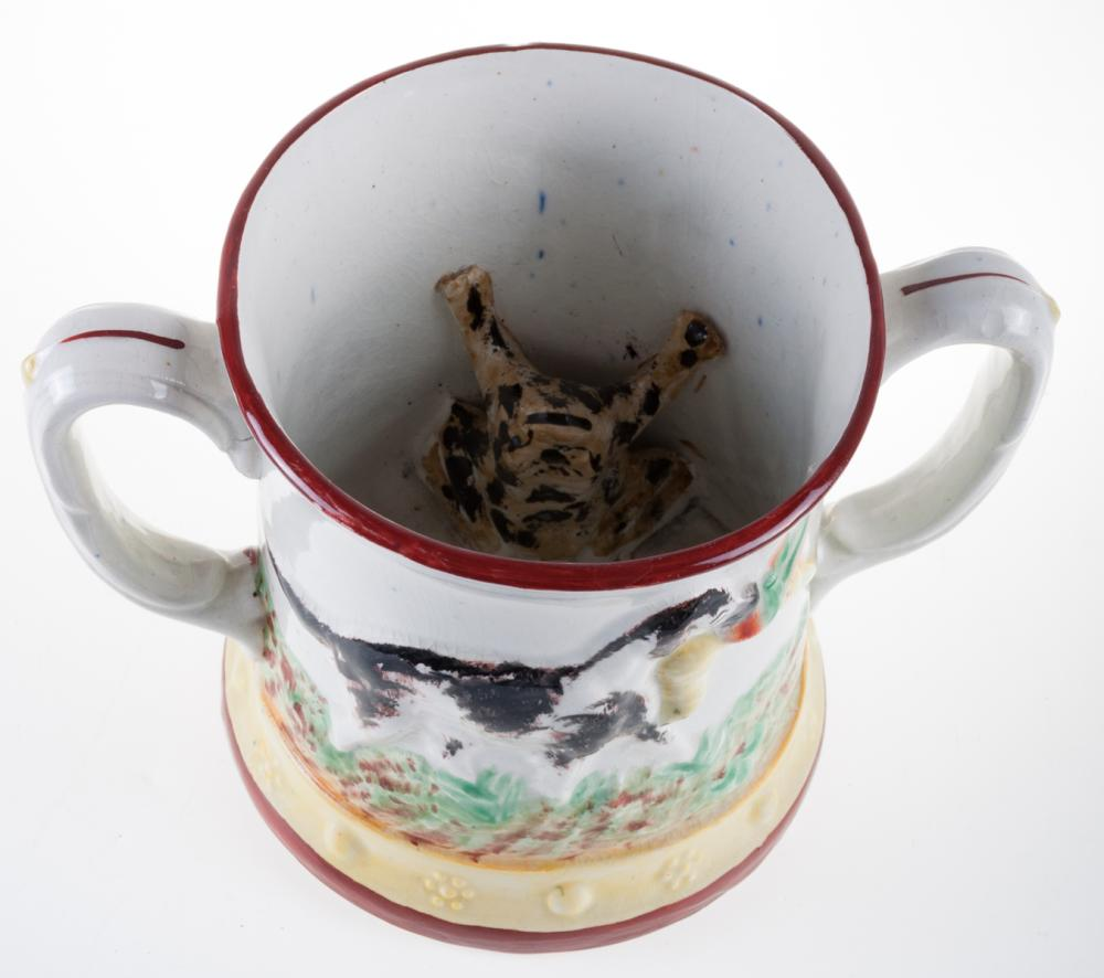 Prattware Loving Cup with Frog
