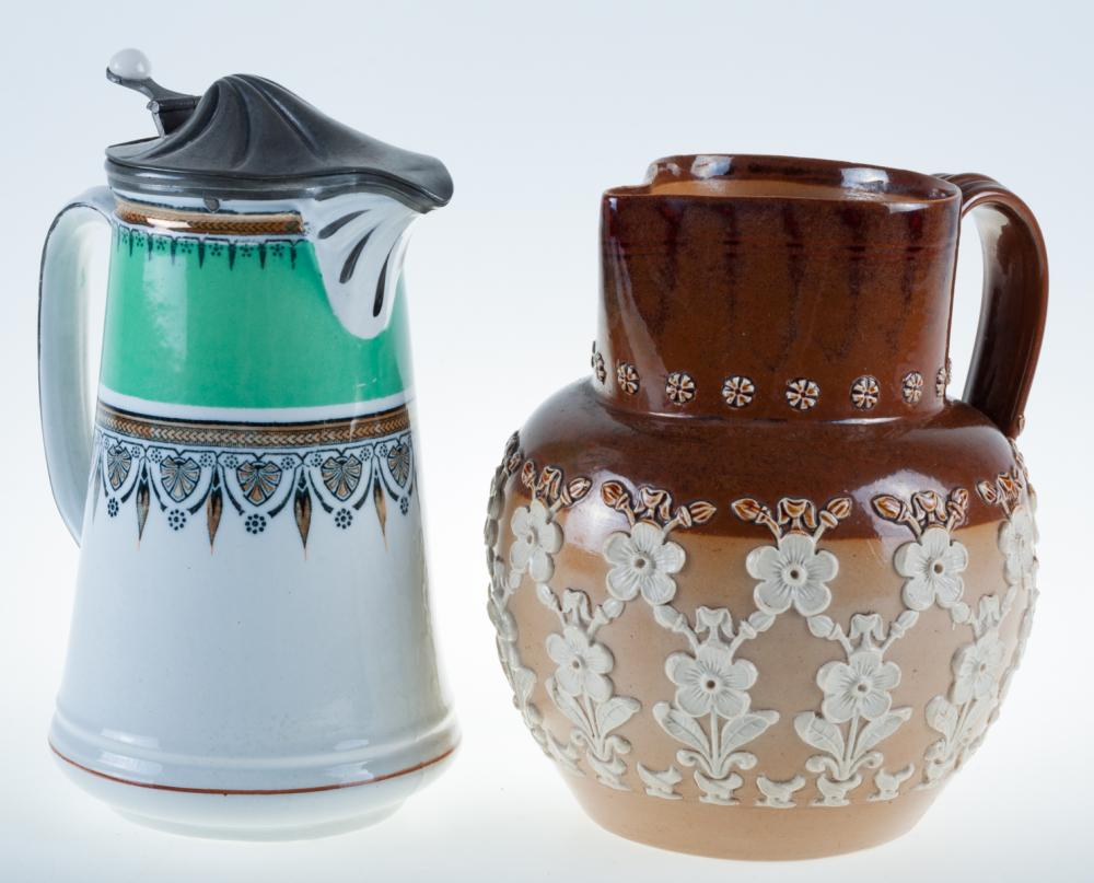 Doulton Lambeth & English Pottery Duo