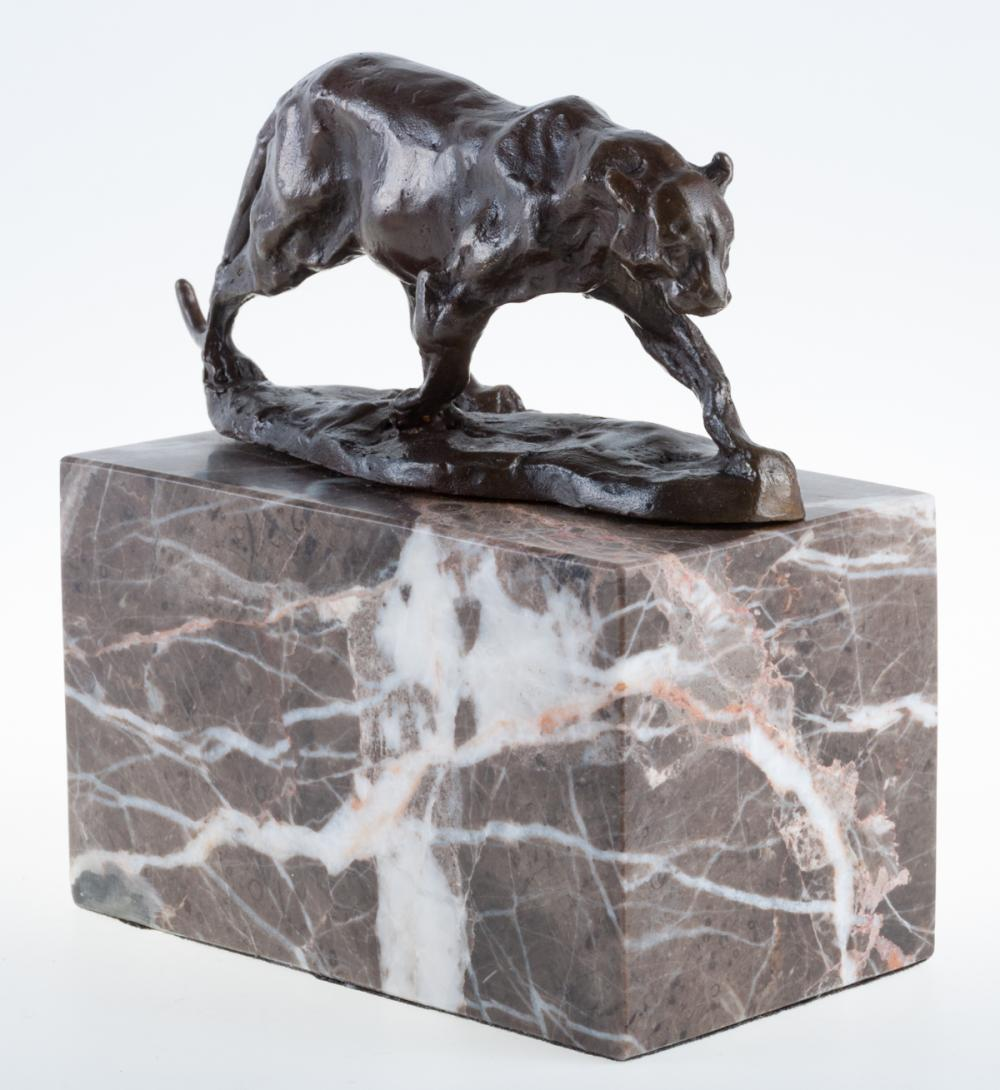 "R. Bugatti Bronze Sculpture ""Panthere Marchant"""