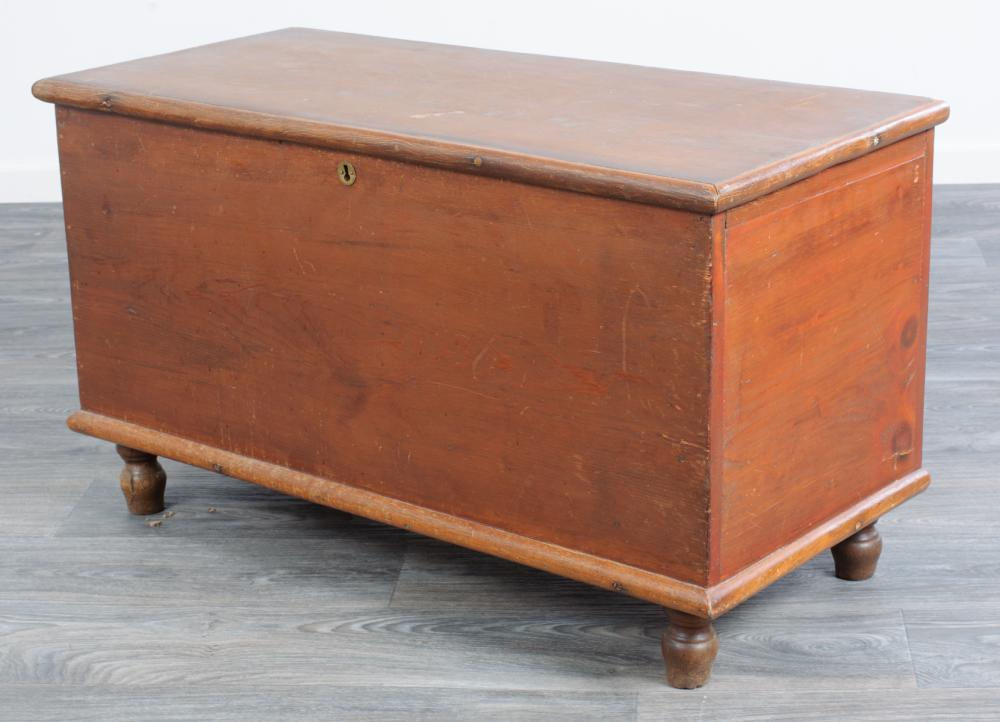 Six Board Lift Top Blanket Chest 19th C