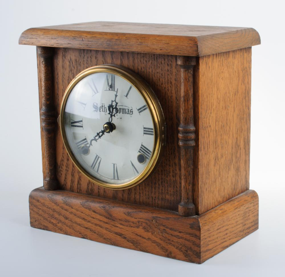 Seth Thomas Oak Table Clock