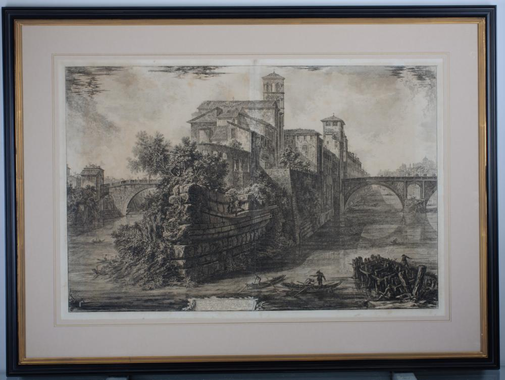 Piranesi Engraving Veduta dell' Isola Tiberina