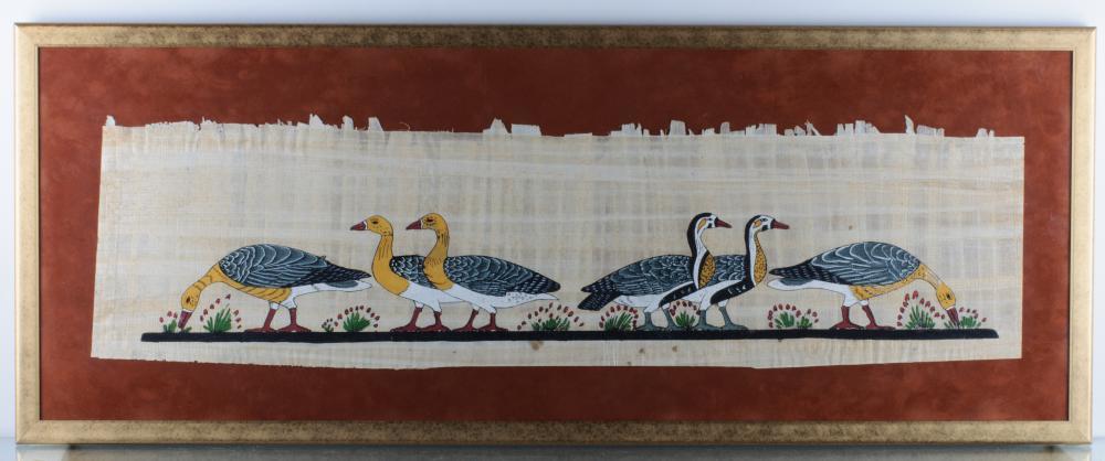 Gouache on Papyrus, Egyptian Geese