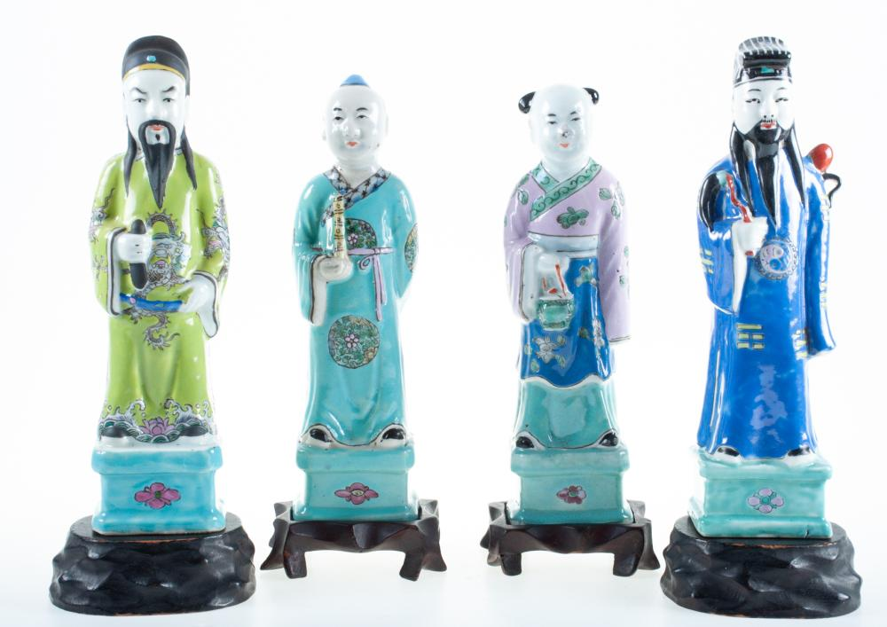 Chinese Porcelain Figures 19th C