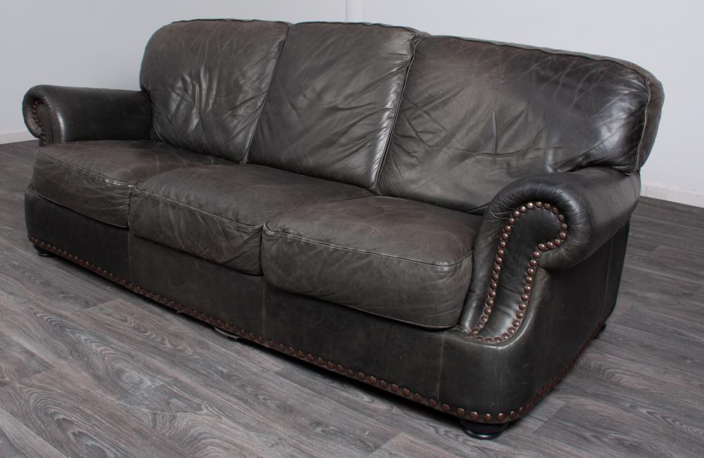 Leather Sofa Three Cushion