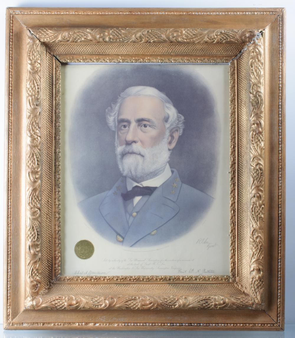 19th C Portrait of General Robert E. Lee
