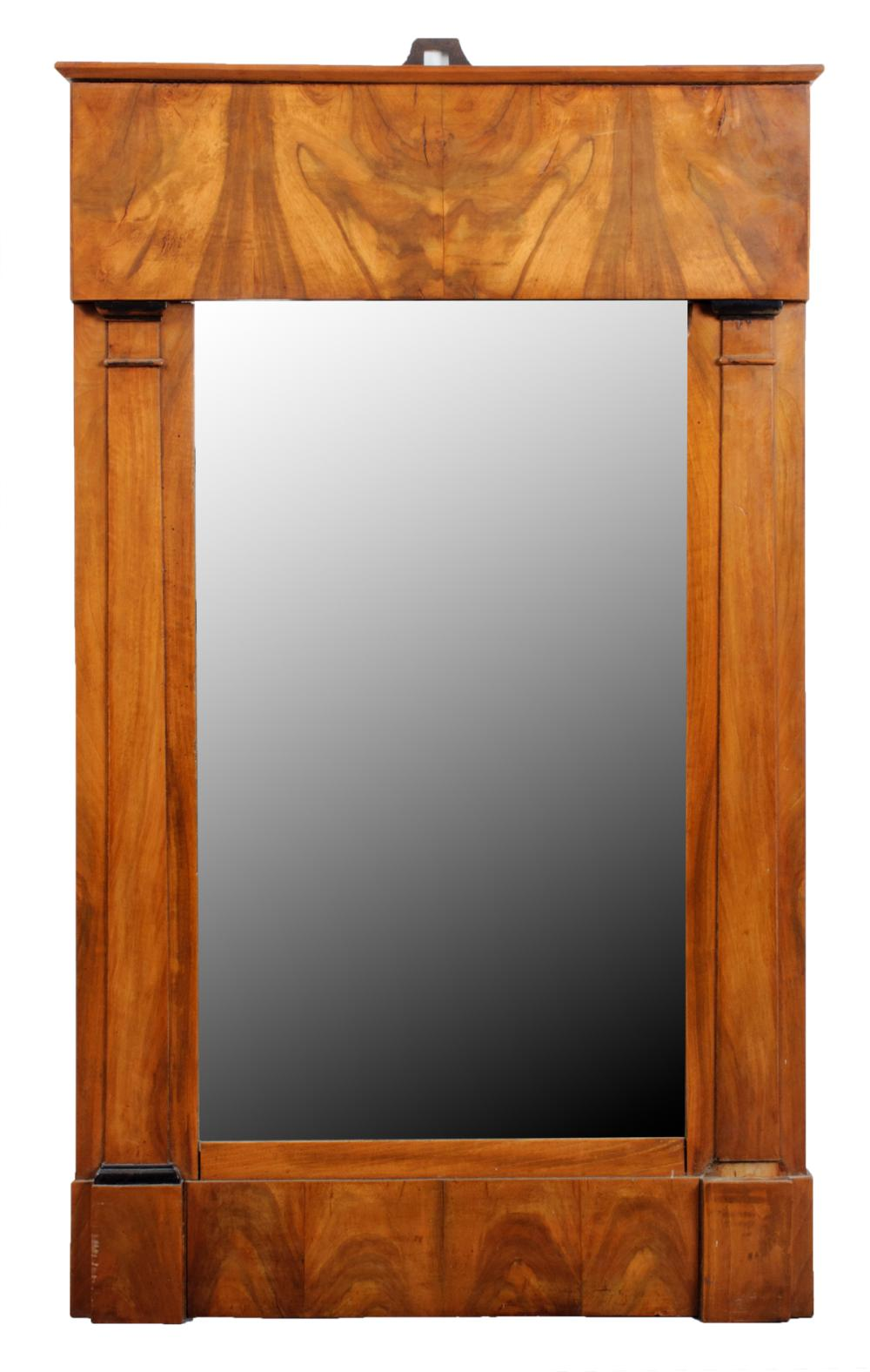 German Biedermeier Fruitwood Wall Mirror