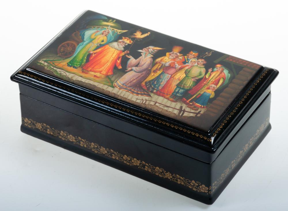 Fedoskino Russian Lacquer Box, The Golden Cockerel
