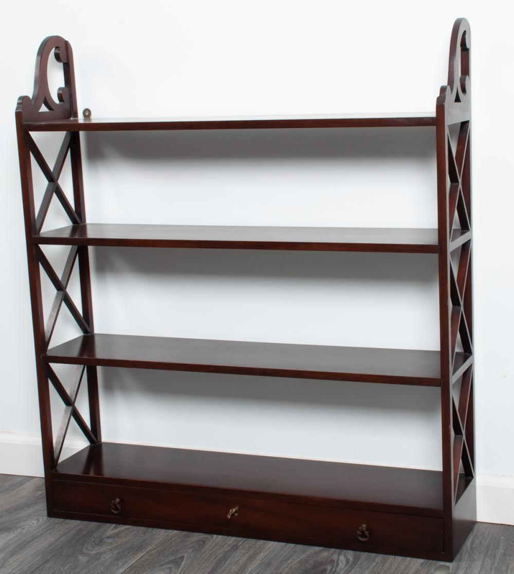 C.W. Kittinger Mahogany Hanging Wall Shelf