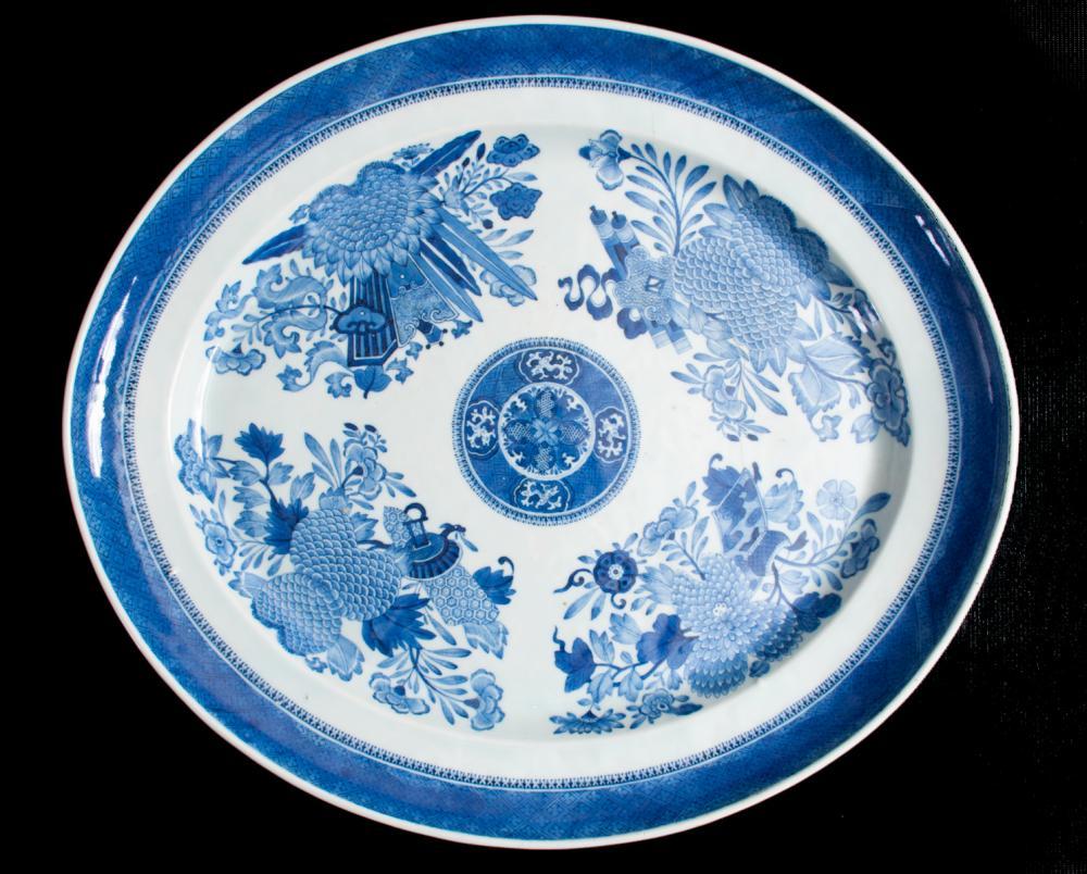Chinese Export Blue Fitzhugh Porcelain Platter
