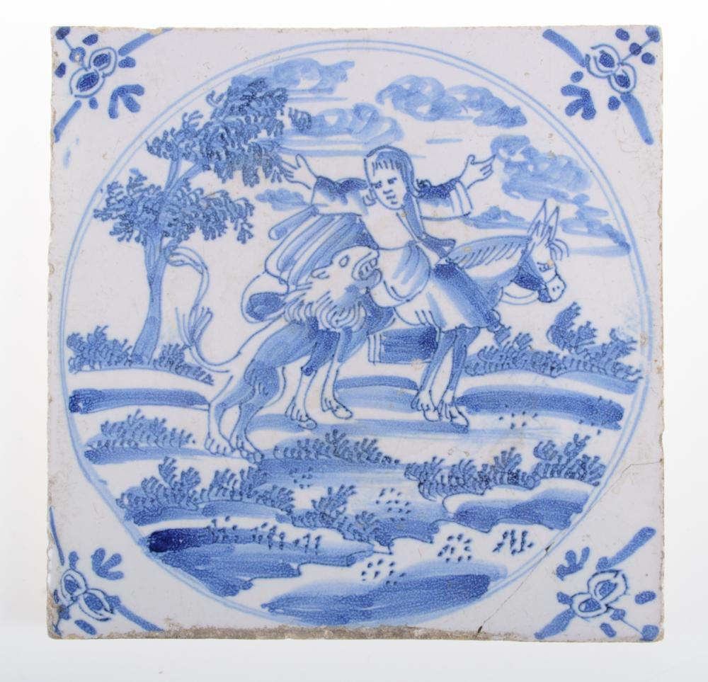 Antique Delft Blue & White Tile