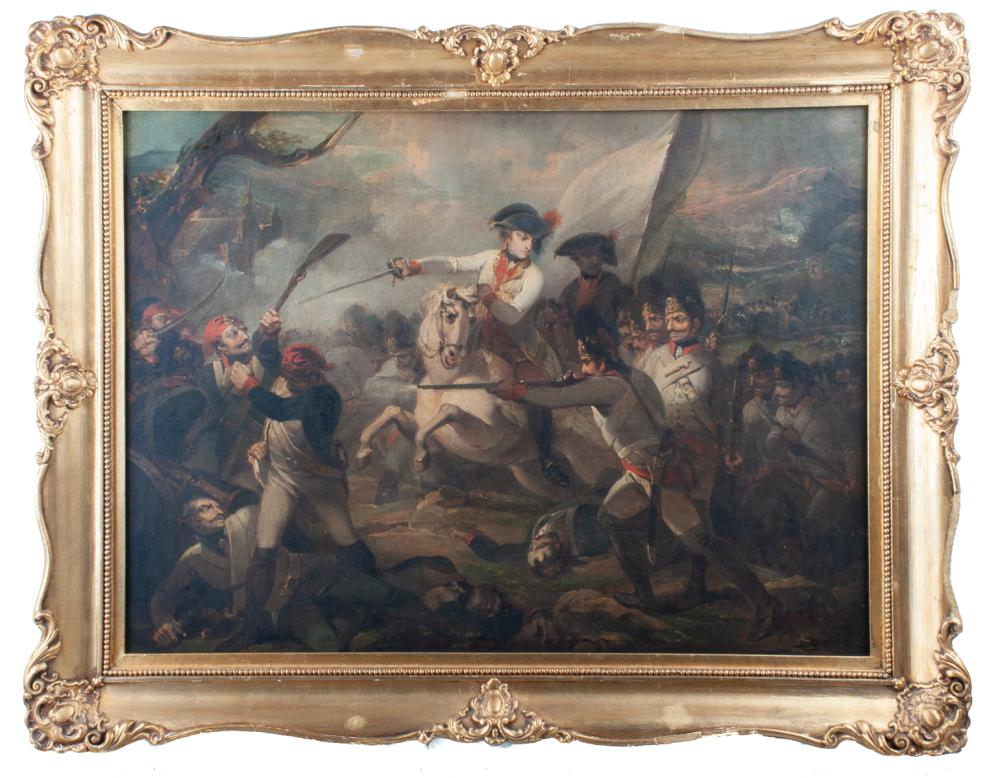 Henry Singleton Oil on Canvas Battle Scene