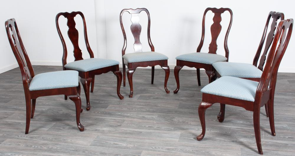 Mahogany Queen Anne Style Dining Chairs