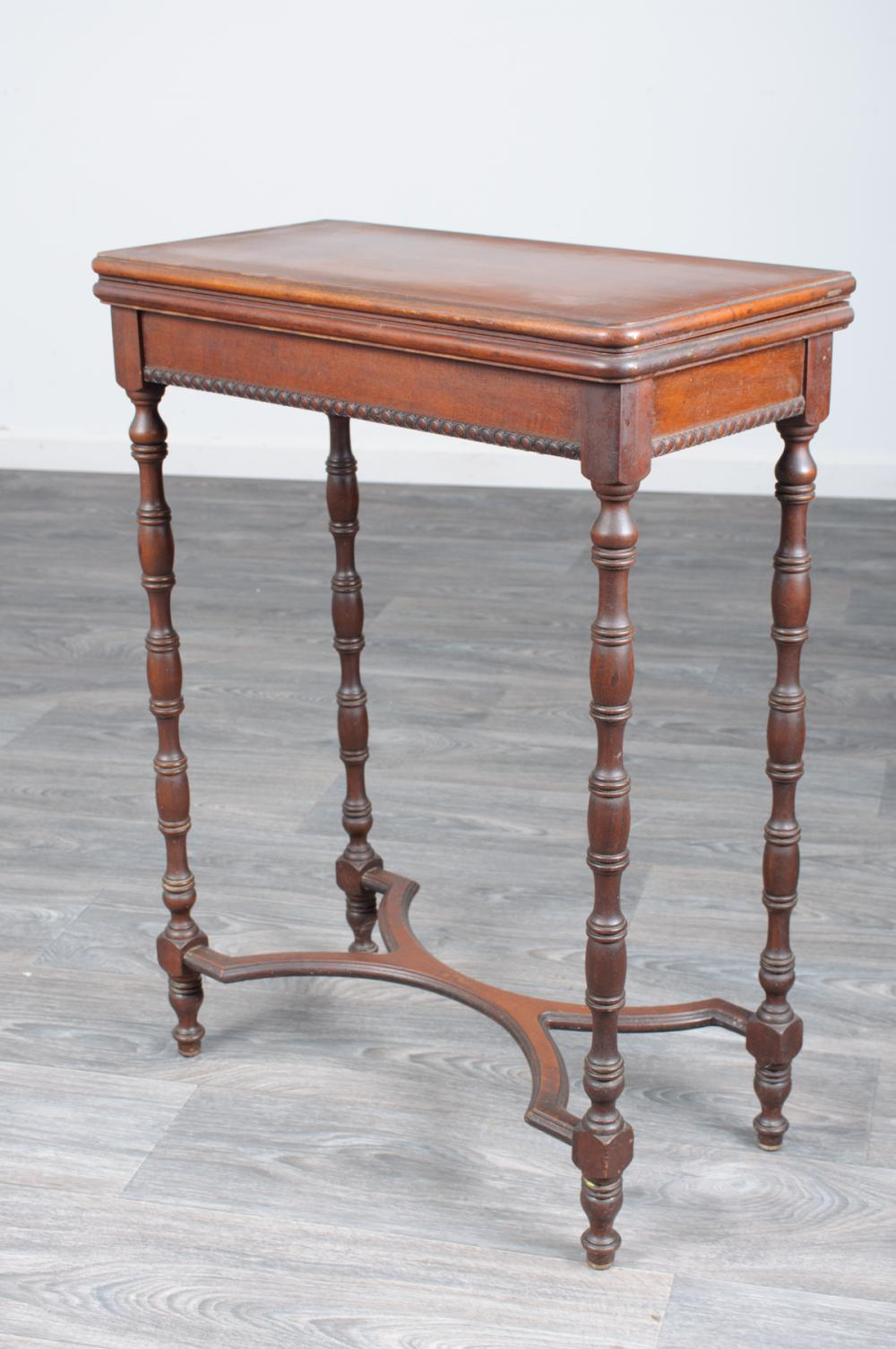 English Mahogany Folding Top Table