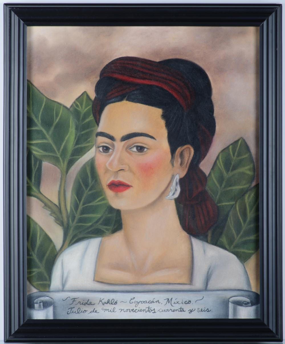 "Frida Kahlo ""Autorretrato"" July 1946 Mixed Media"