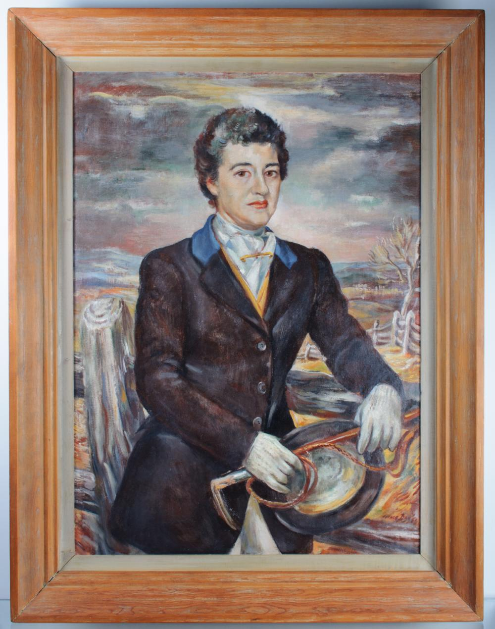 Horace Talmage Day Portrait Oil, Dorothy Wehmann
