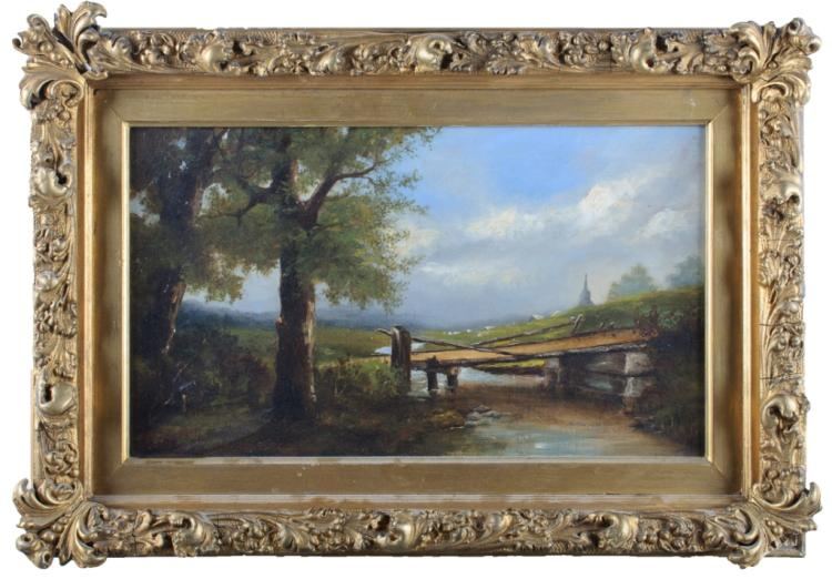 C.A. Foster Oil on Canvas Painting
