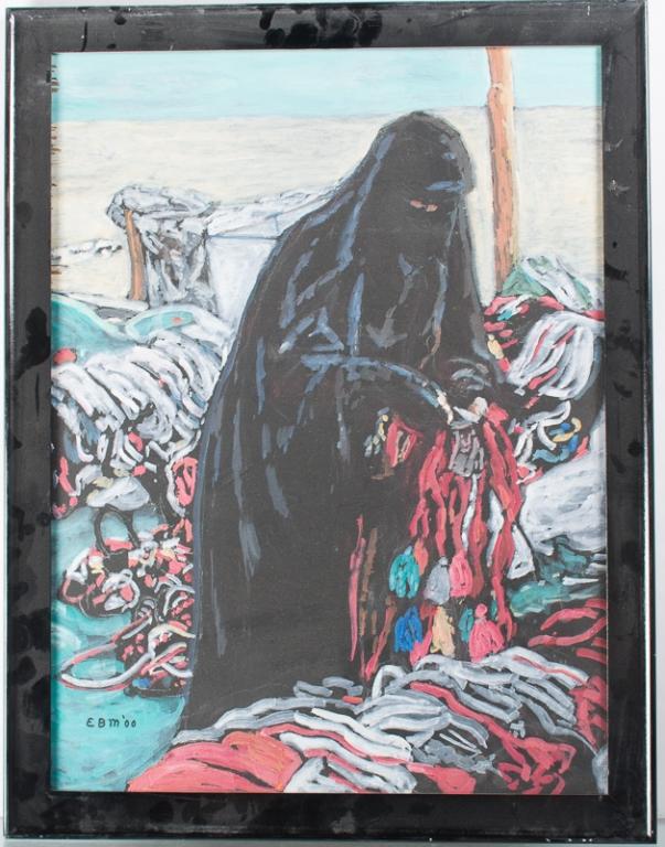 Evelyn Metzger Niqabiah Portrait Oil On Masonite