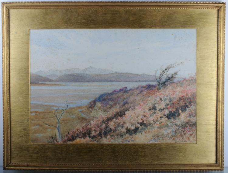 John Surtees Landscape Watercolor on Paper