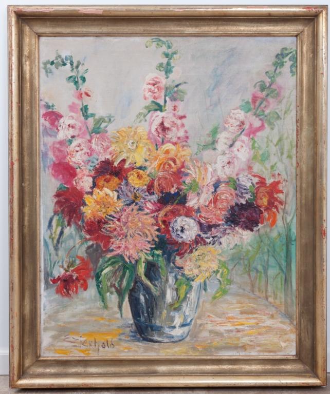 Elizabeth Zierhold Floral Still Life Oil on Canvas