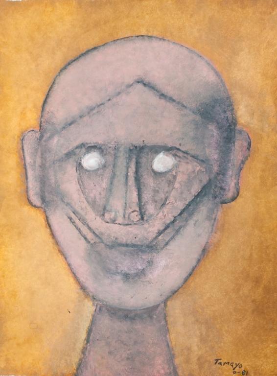 """Rufino Tamayo """"Cabeza de Hombre"""" Gouache on Paper"""