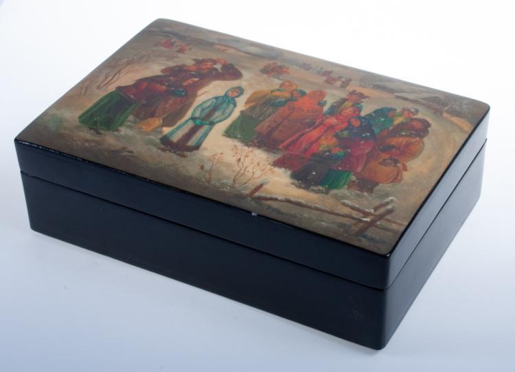 Fedoskino Russian Lacquer Box