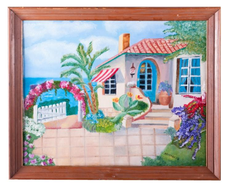 "D. Mirabella ""Mediterranean"" Oil Painting"