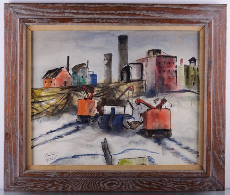 Bruce Handiside Mitchell Industrial Watercolor