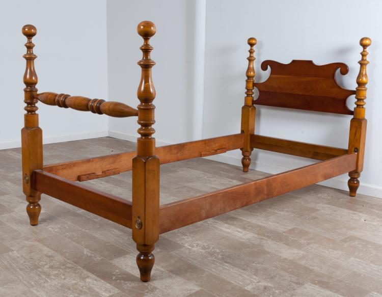 L. & J.G. Stickley Cherry Twin Bed