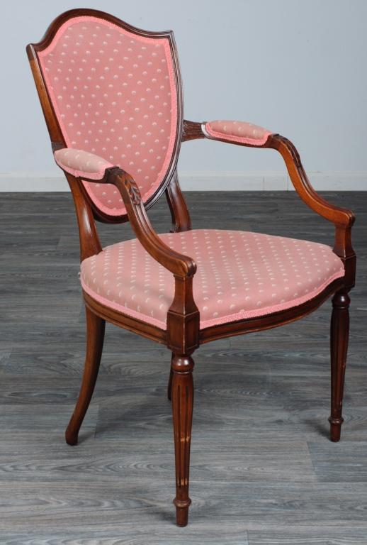 Mahogany Shield Back Arm Chair