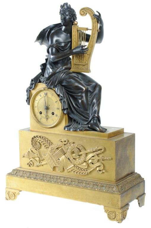 Napoleonic Era Bronze Mantle Clock