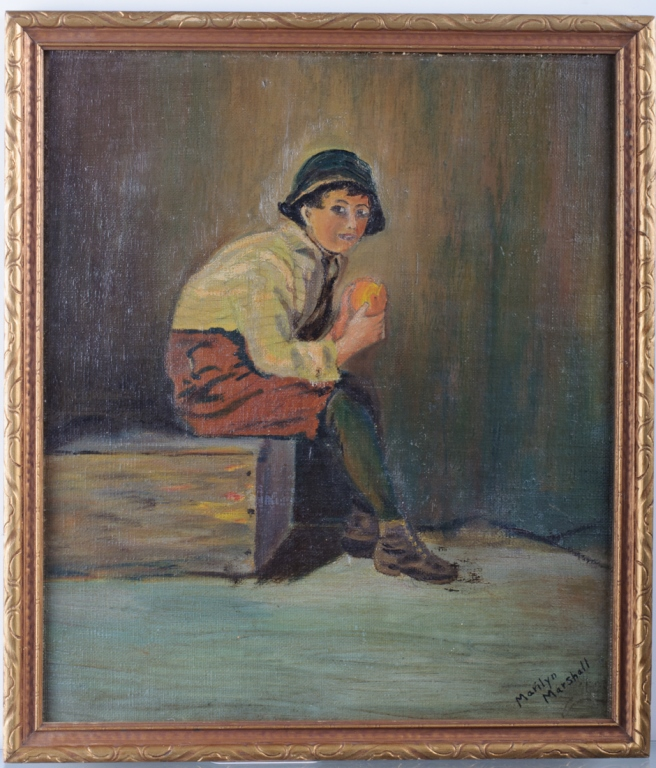 Marilyn Marshall Child Portrait Oil on Canvas