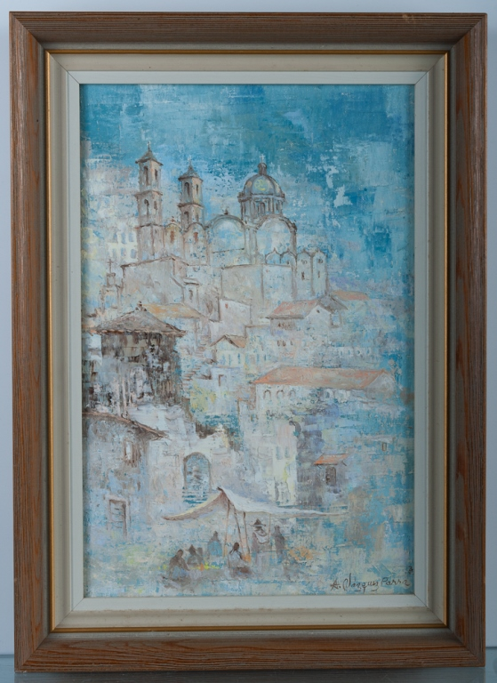 Antonio Vazquez Parra Cityscape Oil on Canvas