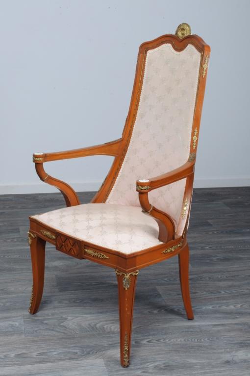 Biedermeier Style Tall Back Armchair