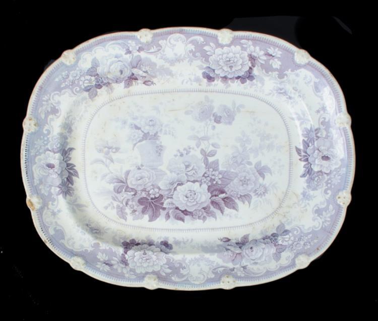 English Transferware Platter, L 19th C