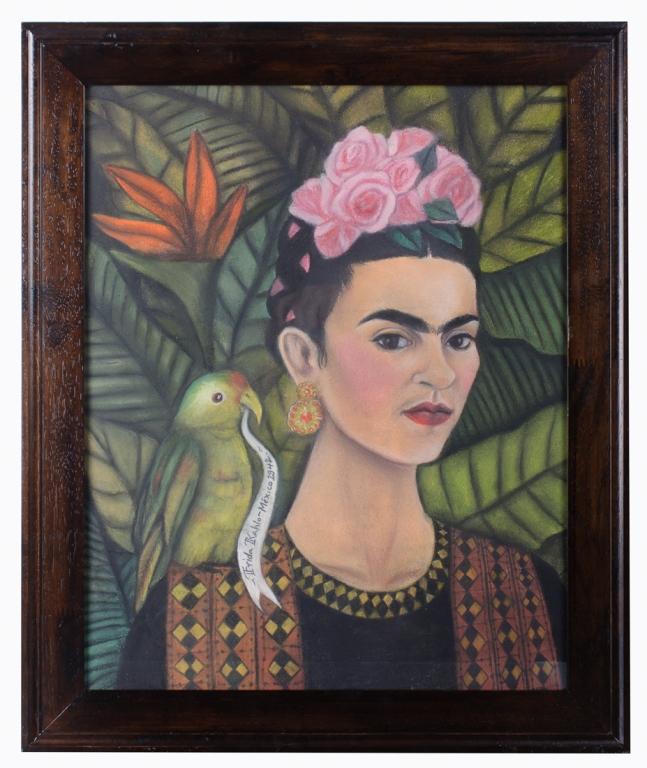 """Frida Kahlo """"Autorretrato"""" 1942 Mixed Media"""