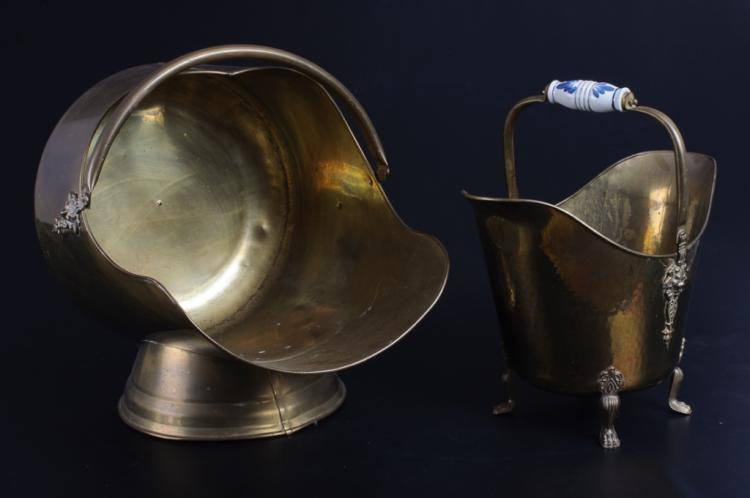 Brass Ash Bucket & Log Holder