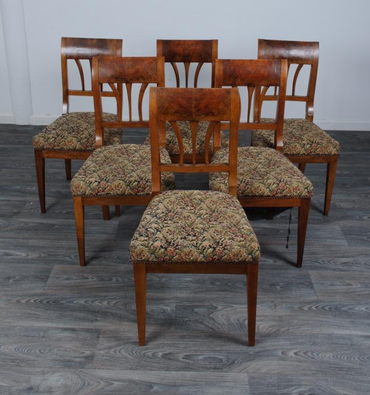 Biedermeier Side Chairs, Set of Six (6)