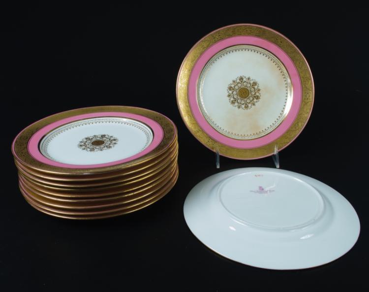 Minton Davis Collamore Pink & Gilt Salad Plates