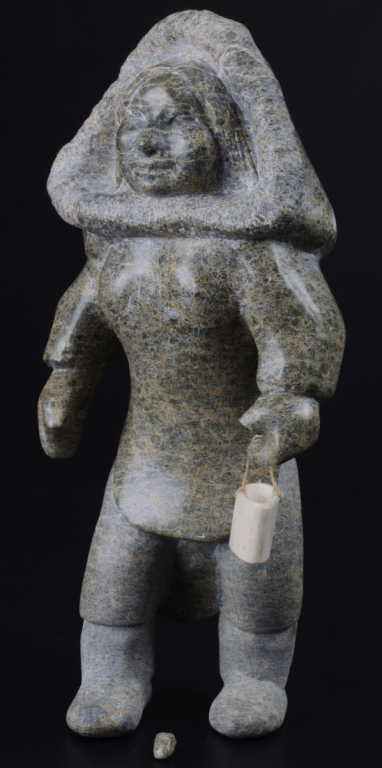 Inuit Stone Carving of a Standing Woman