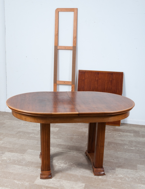 Double Pedestal Oval Dining Table